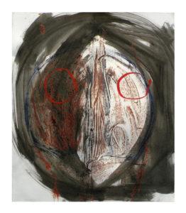 """Obra pictórica Madola: Serie """"Caps"""", 2007   34 x 42 cm"""